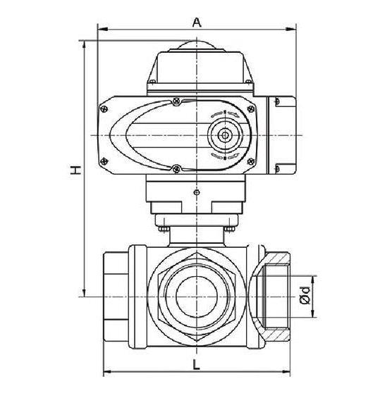 电动三通螺纹球阀(图1)